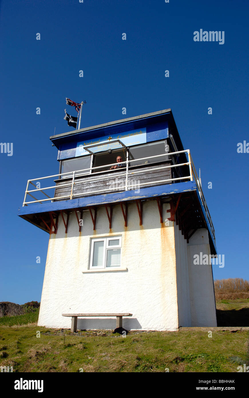 National Coastwatch Institution station at 'The Lizard' Cornwall, Britain, UK - Stock Image