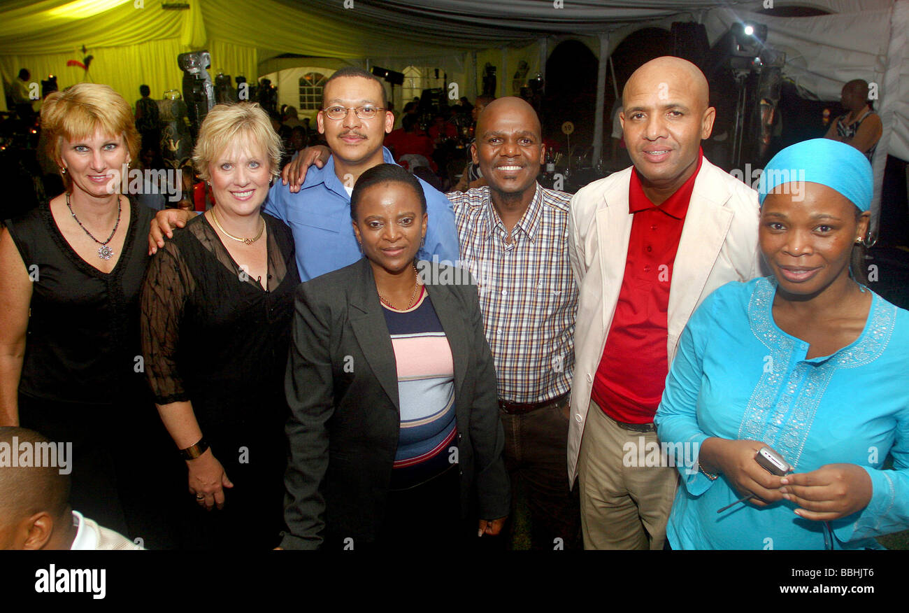 VIP s and guests arrive for the ABSA sponsored dinner at the Suncoast Casino during the A1 Grand Prix race in Durban - Stock Image