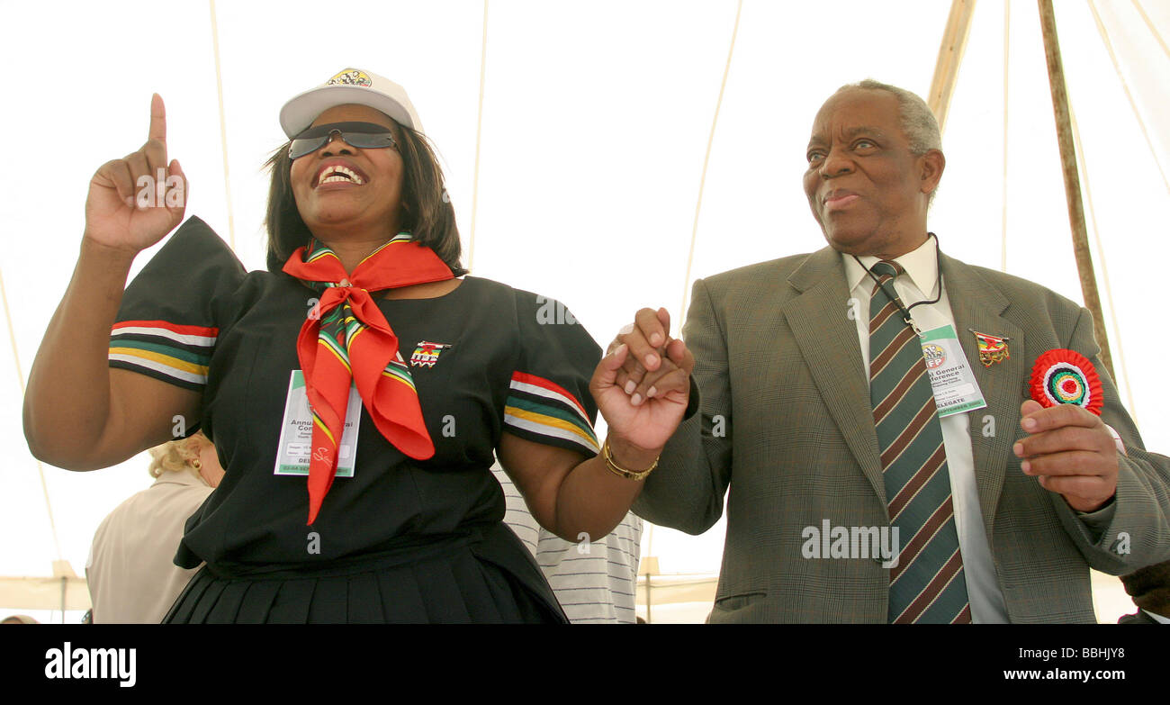 Senior Inkatha Freedom Party IFP leader and member of the Zulu Royal House Prince Gideon Zulu R passed on the 16 - Stock Image