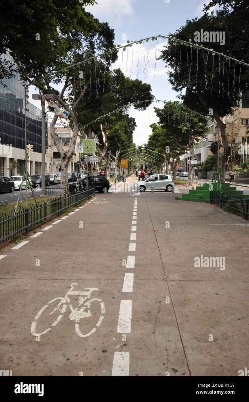 Israel Tel Aviv Rothschild Boulevard - Stock Image