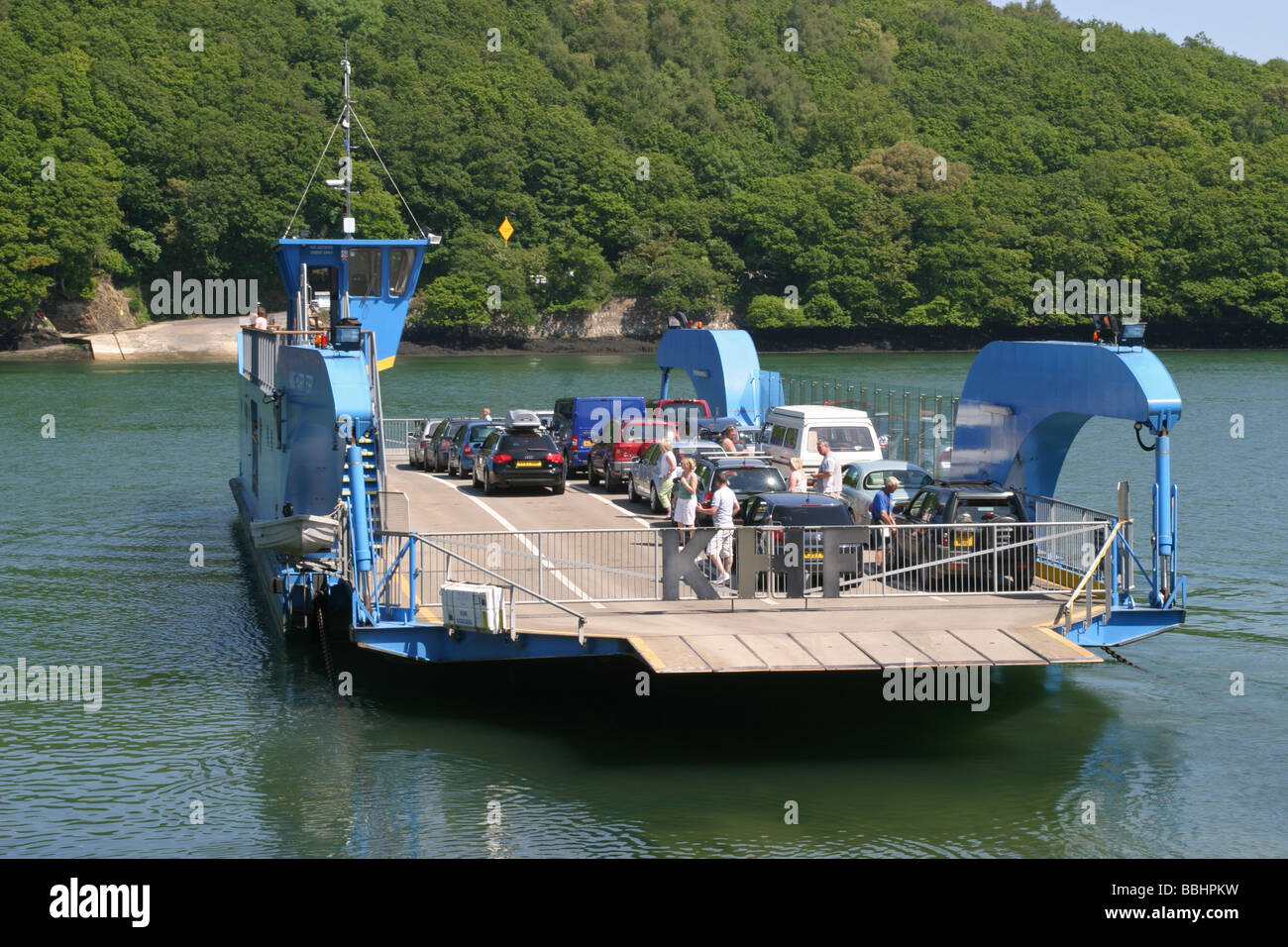 King Harry Ferry Cornwall UK Stock Photo