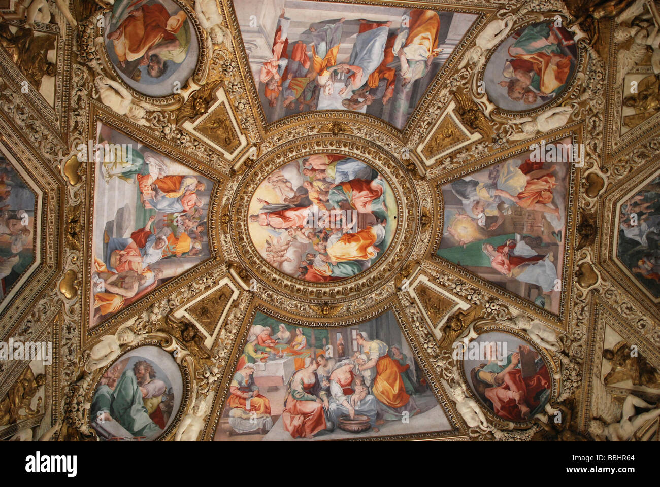 Ceiling Paintings Church Of Santa Maria In Trastevere