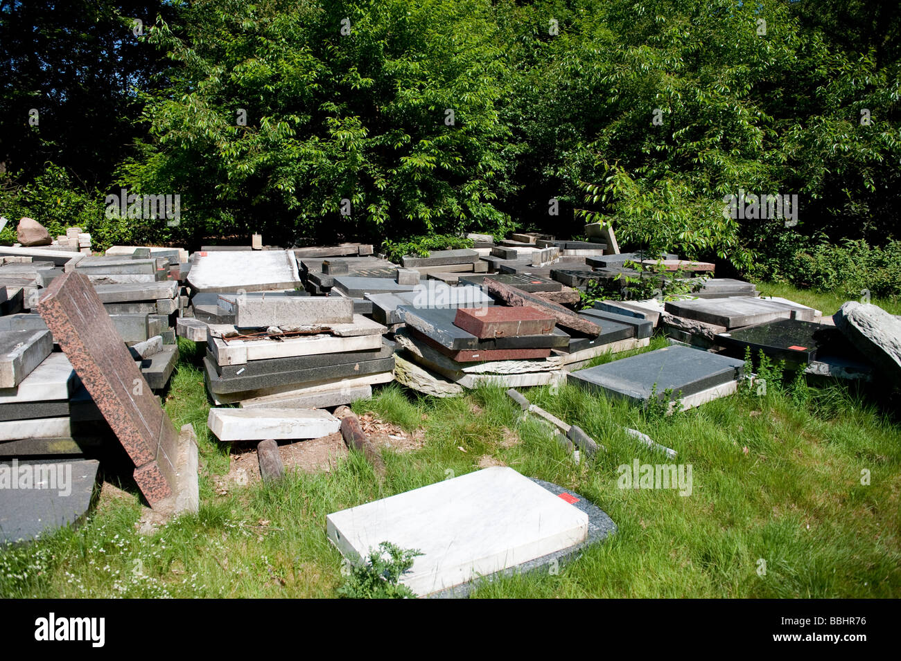 old grave stones - Stock Image