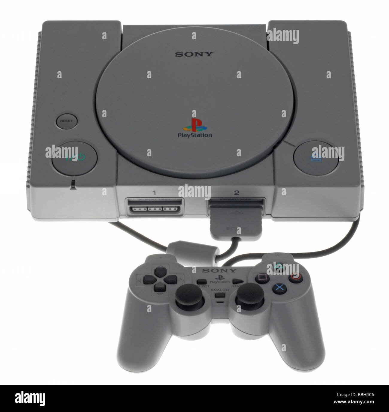 Original Playstation console - Stock Image
