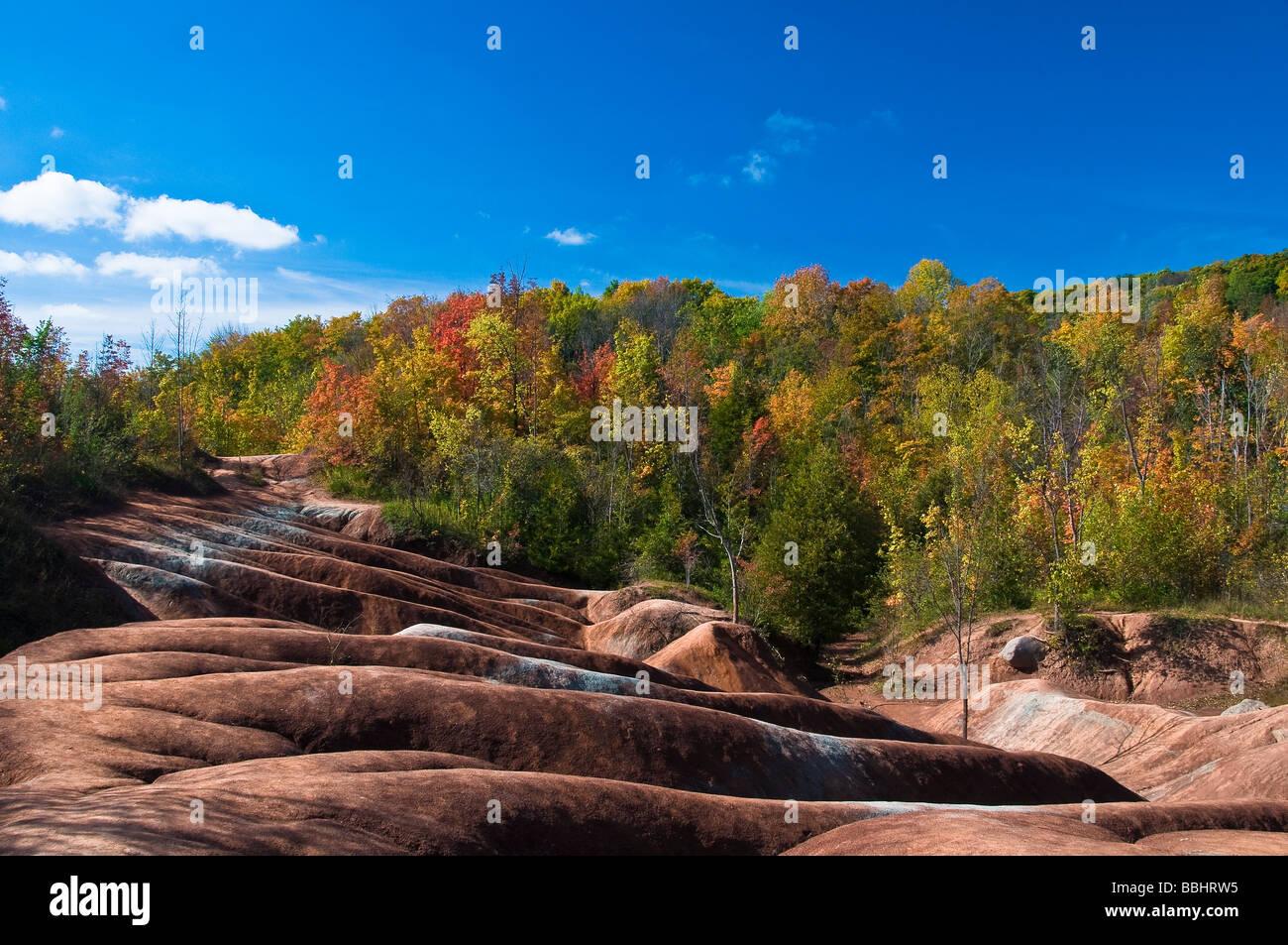 Cheltenham Badlands in Caledon Ontario Canada - Stock Image