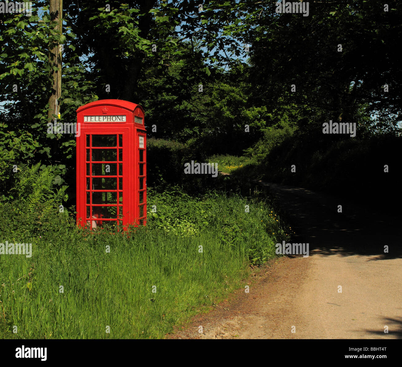 red telephone box - Stock Image