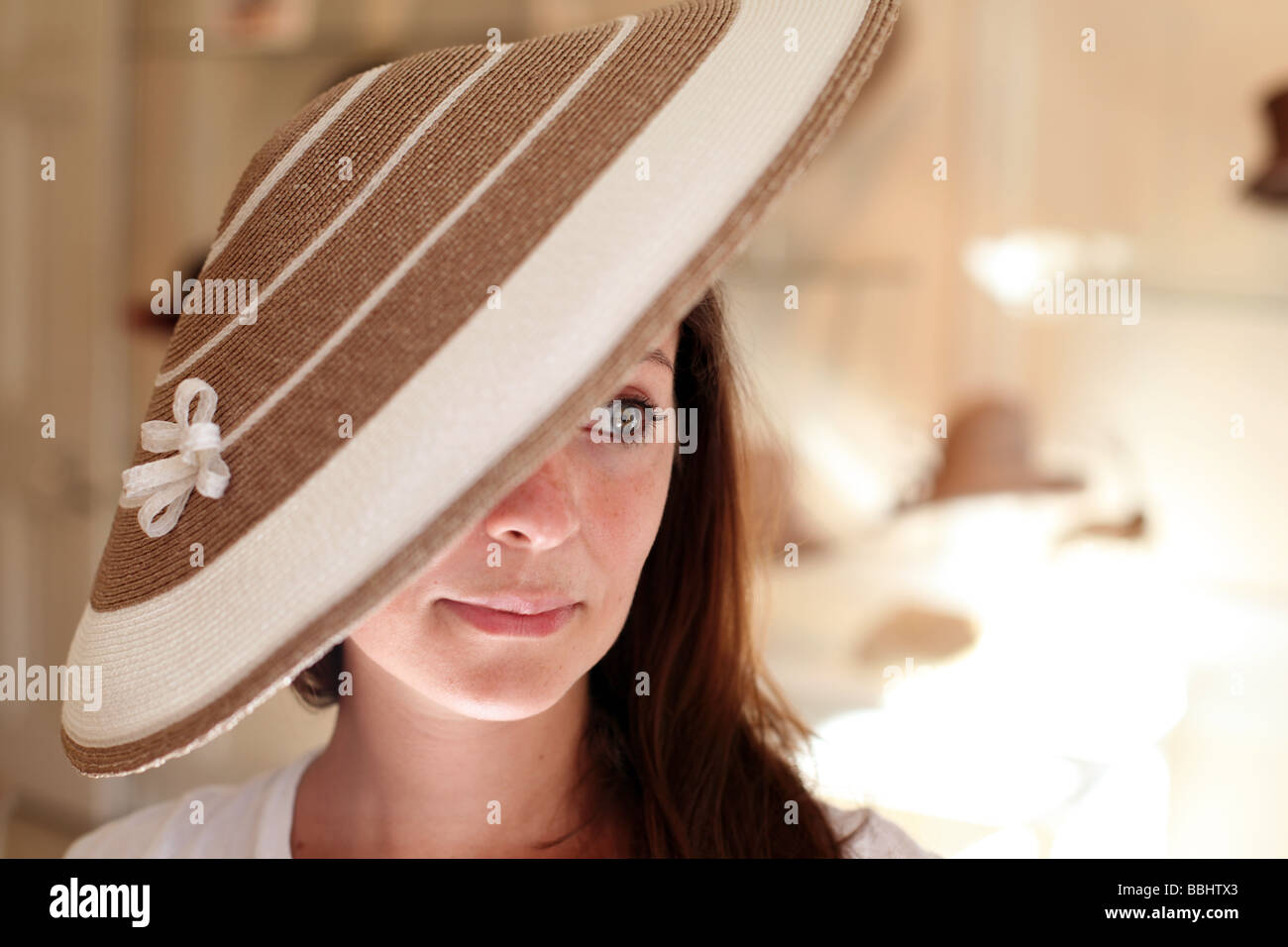Brim of a hat stock photos brim of a hat stock images for The woman in number 6