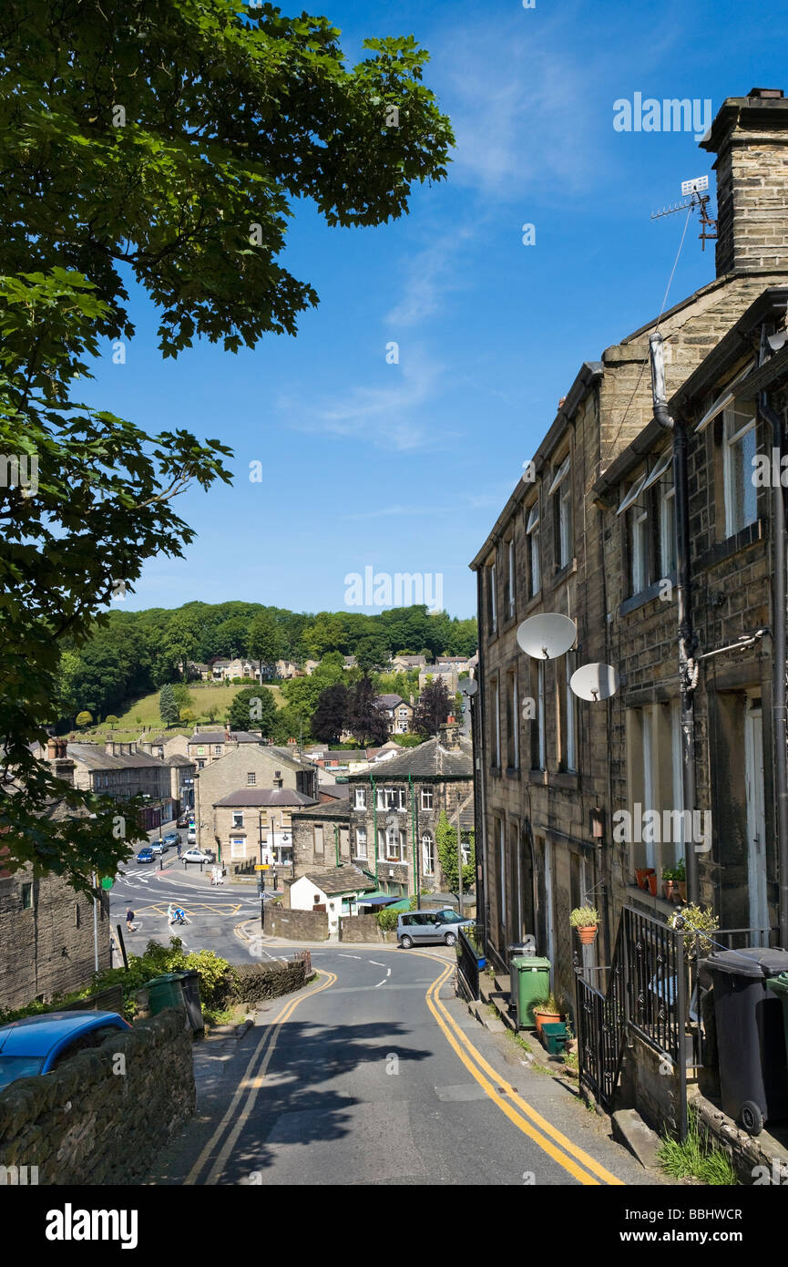 View towards the town centre, Holmfirth, West Yorkshire, England - Stock Image