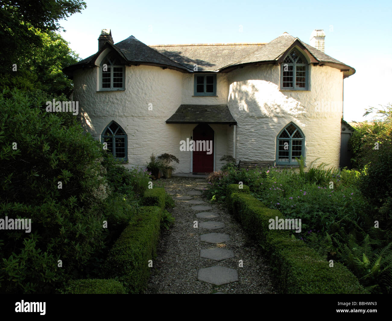 cottage and front path - Stock Image