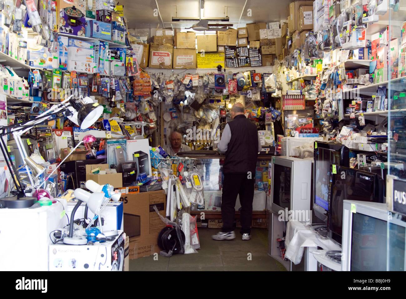 Abba electronics TV repair and home appliances shop, Kentish Town London Stock Photo