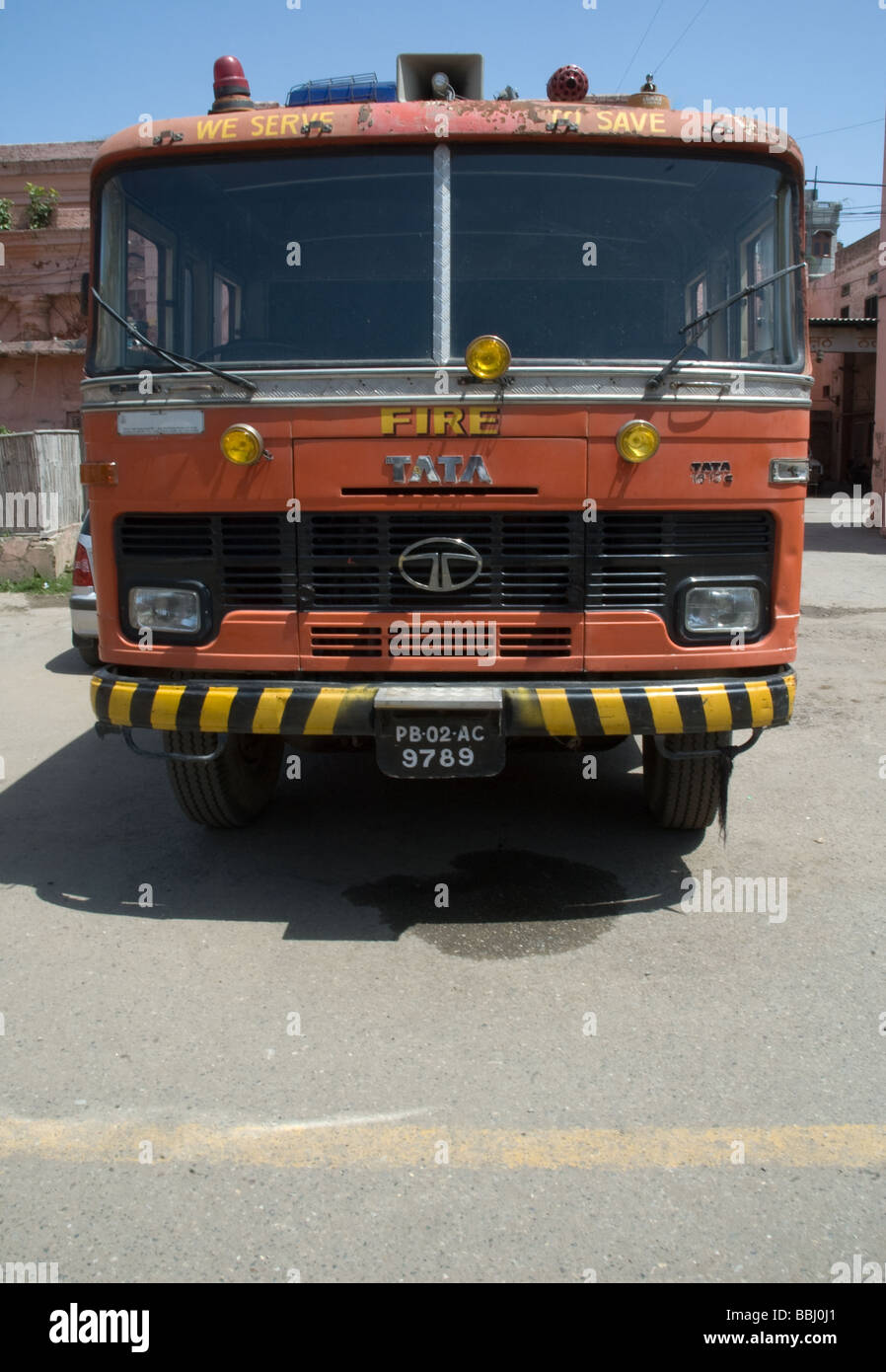A Fire Engine From India   Stock Image