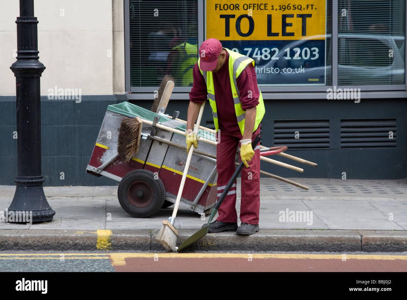 Camden Street Cleaner Kentish Town London Stock Photo