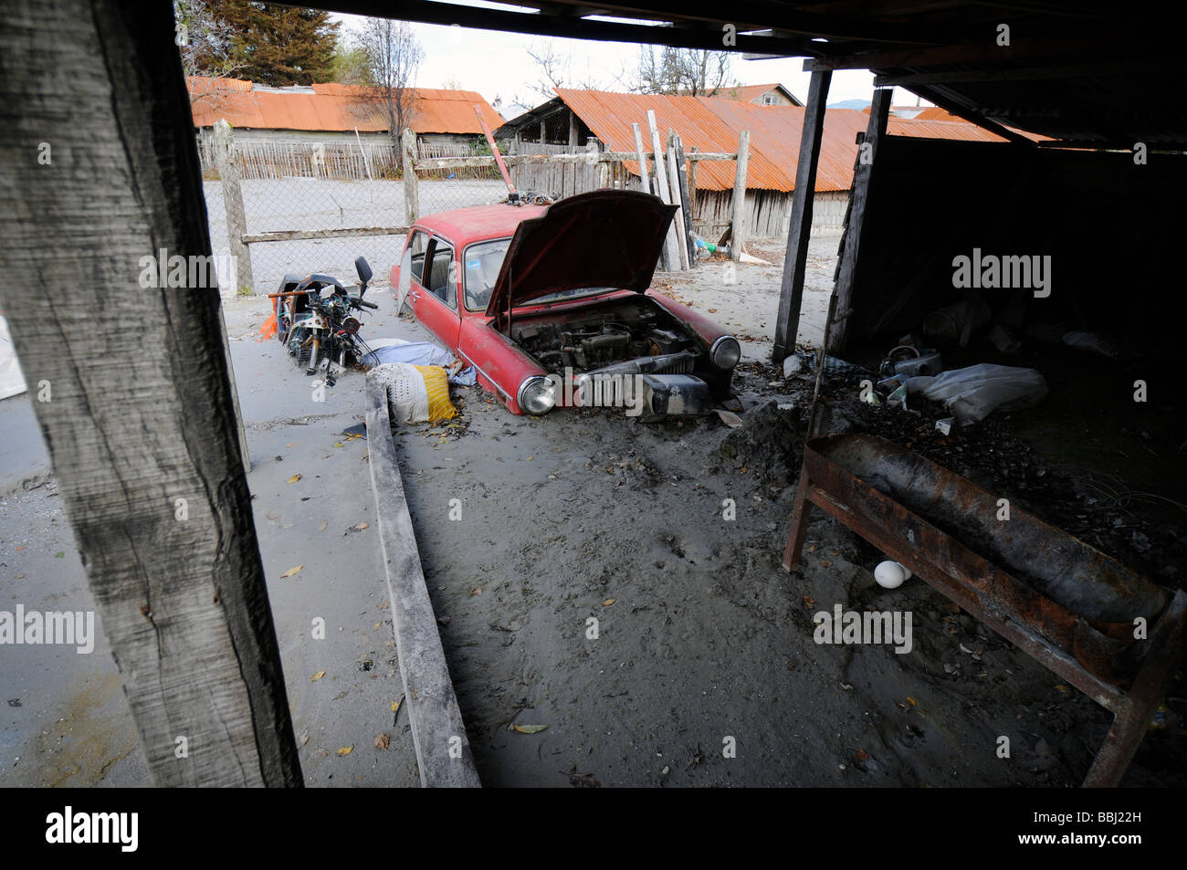 Natural disaster in Chaiten - Stock Image