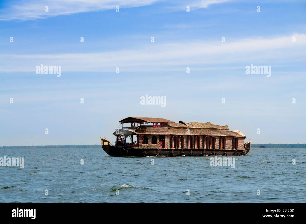 House boat in backwater, cochin - Stock Image
