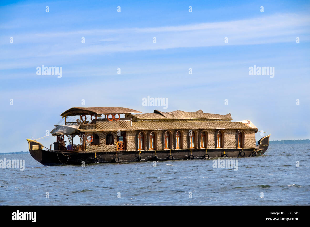 Kerala house boat or Kettuvallam houseboat - Stock Image