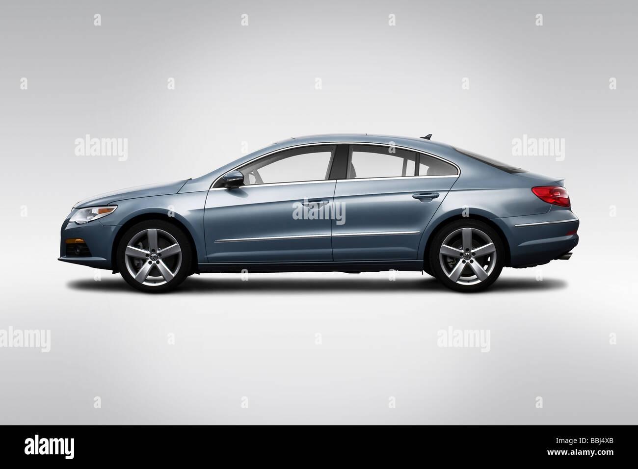 2009 Volkswagen CC VR6 in Gray - Drivers Side Profile Stock Photo