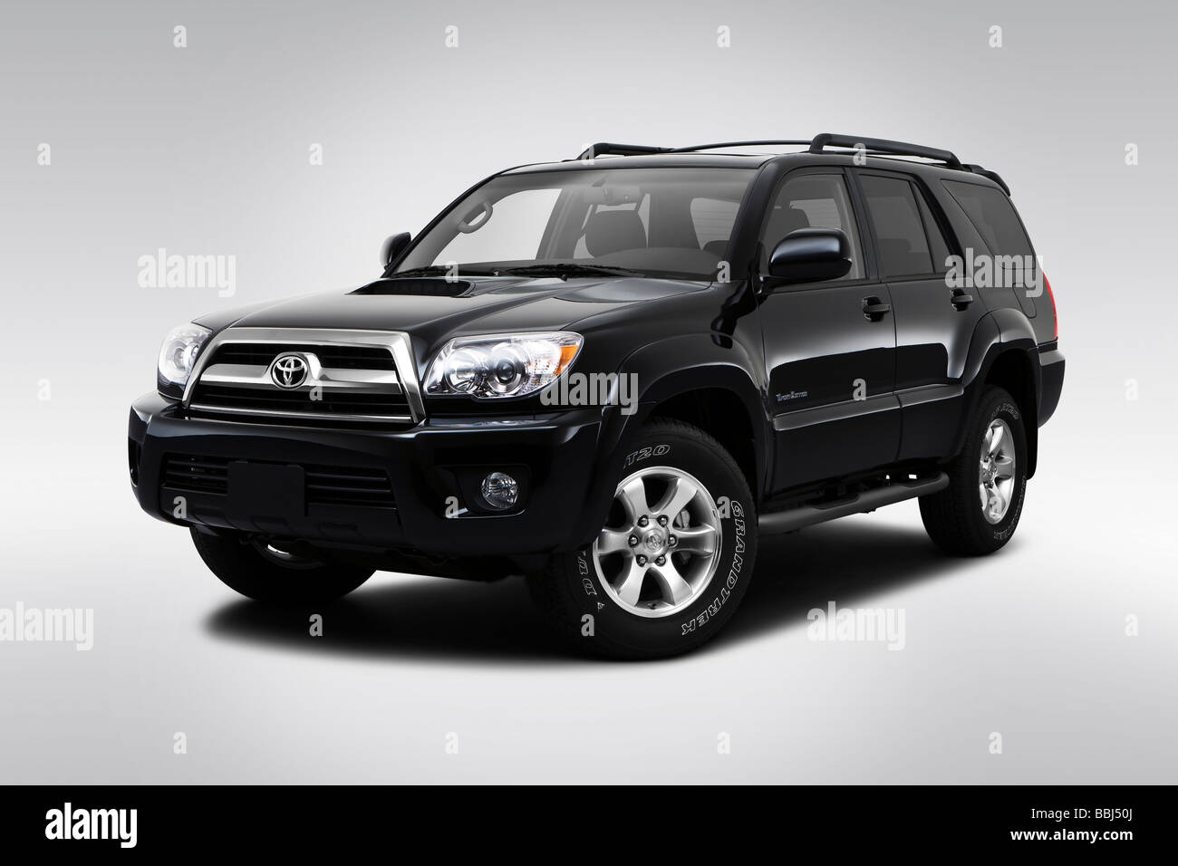 2009 Toyota 4runner Sport In Black Front Angle View Stock Photo Alamy