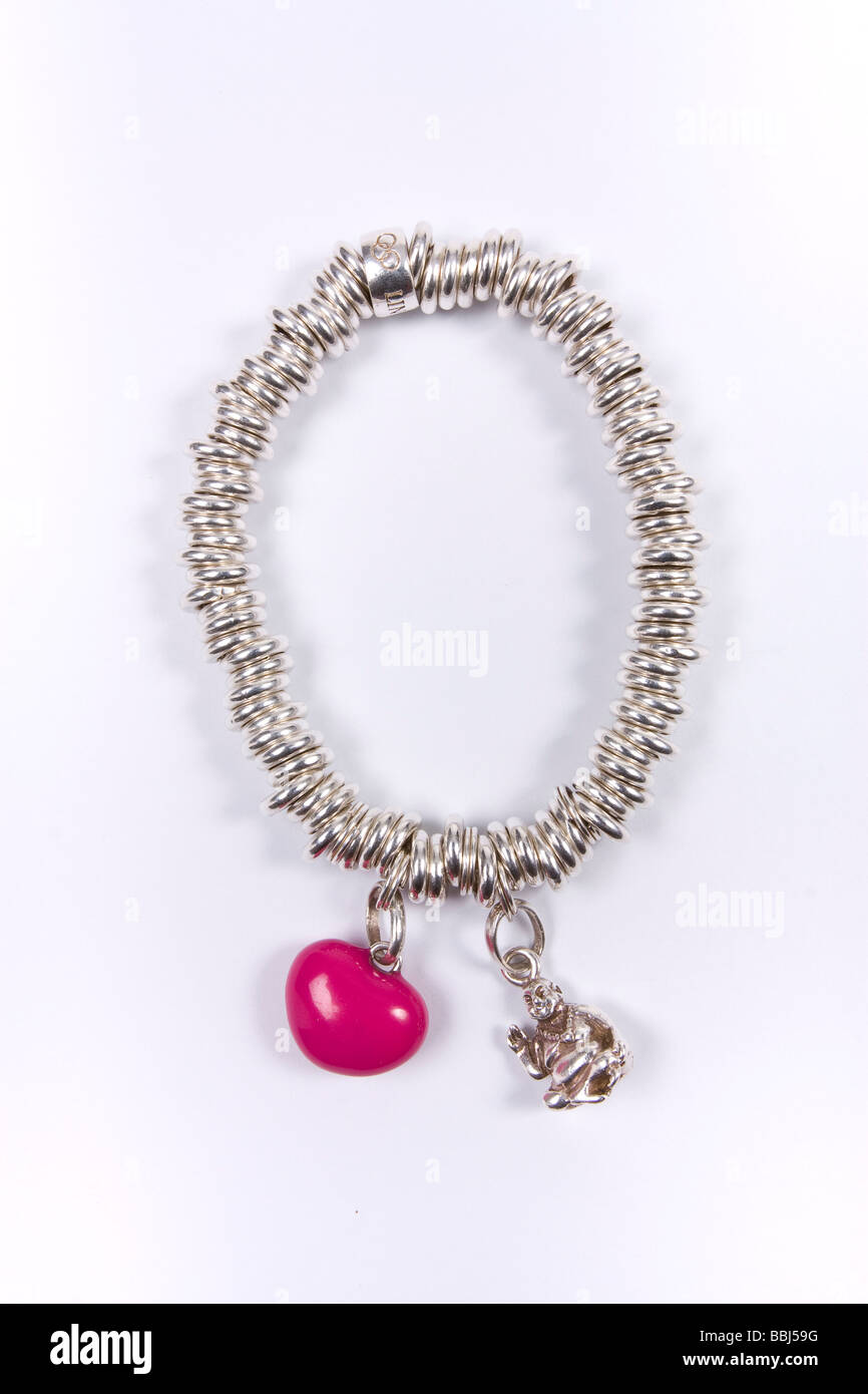 bracelet harrison pink simon heart jewellery details at shop flaming