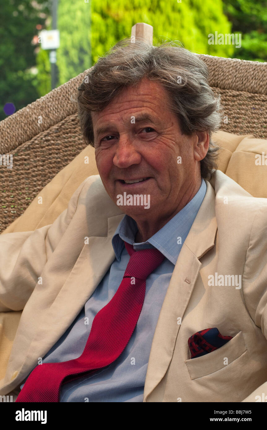Melvyn Bragg the broadcaster and writer photographed at the Salisbury International Arts Festival in Wiltshire in Stock Photo