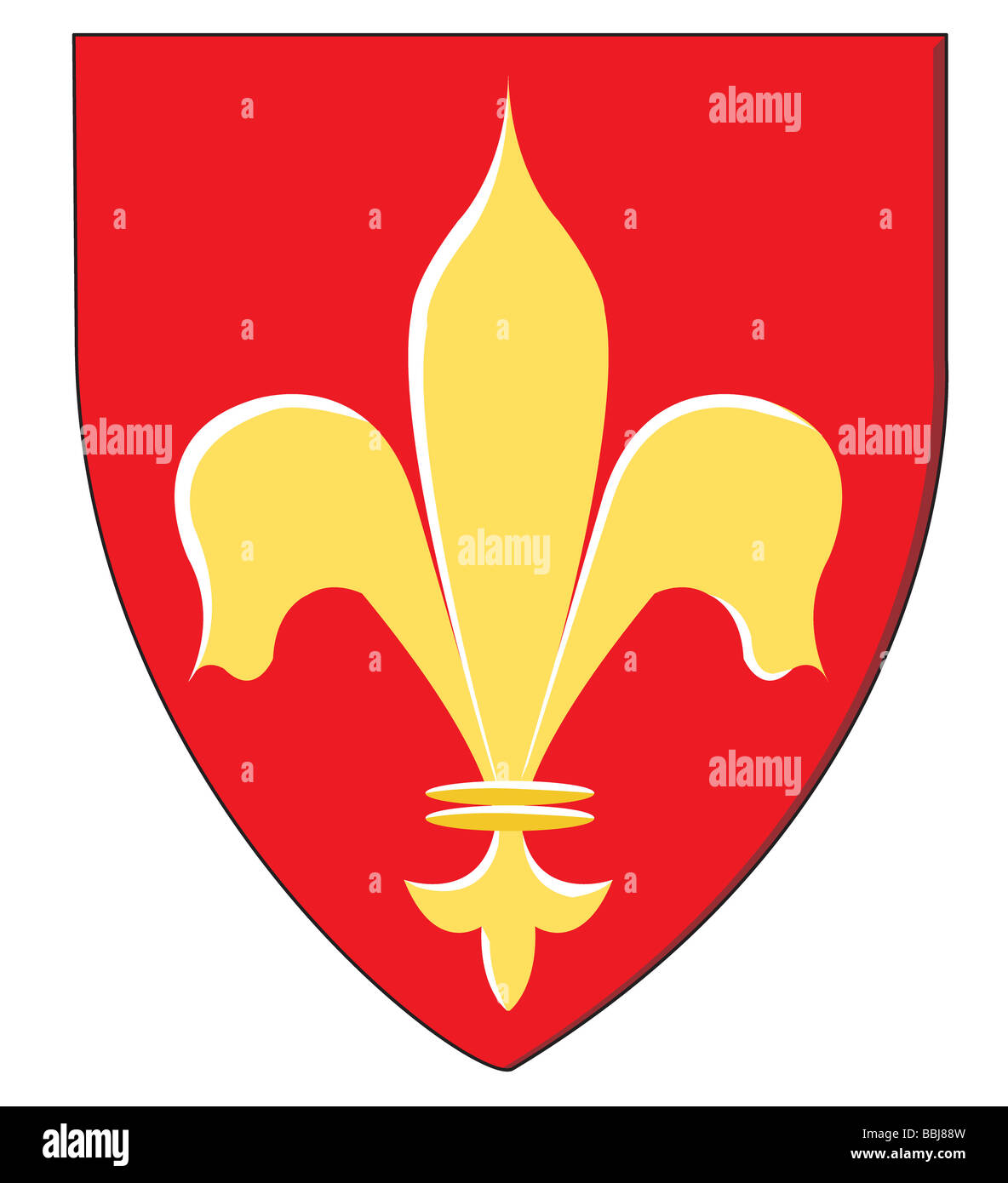 The fleur-de-lis has symbolized the crown of France for nearly 1,000 years. - Stock Image