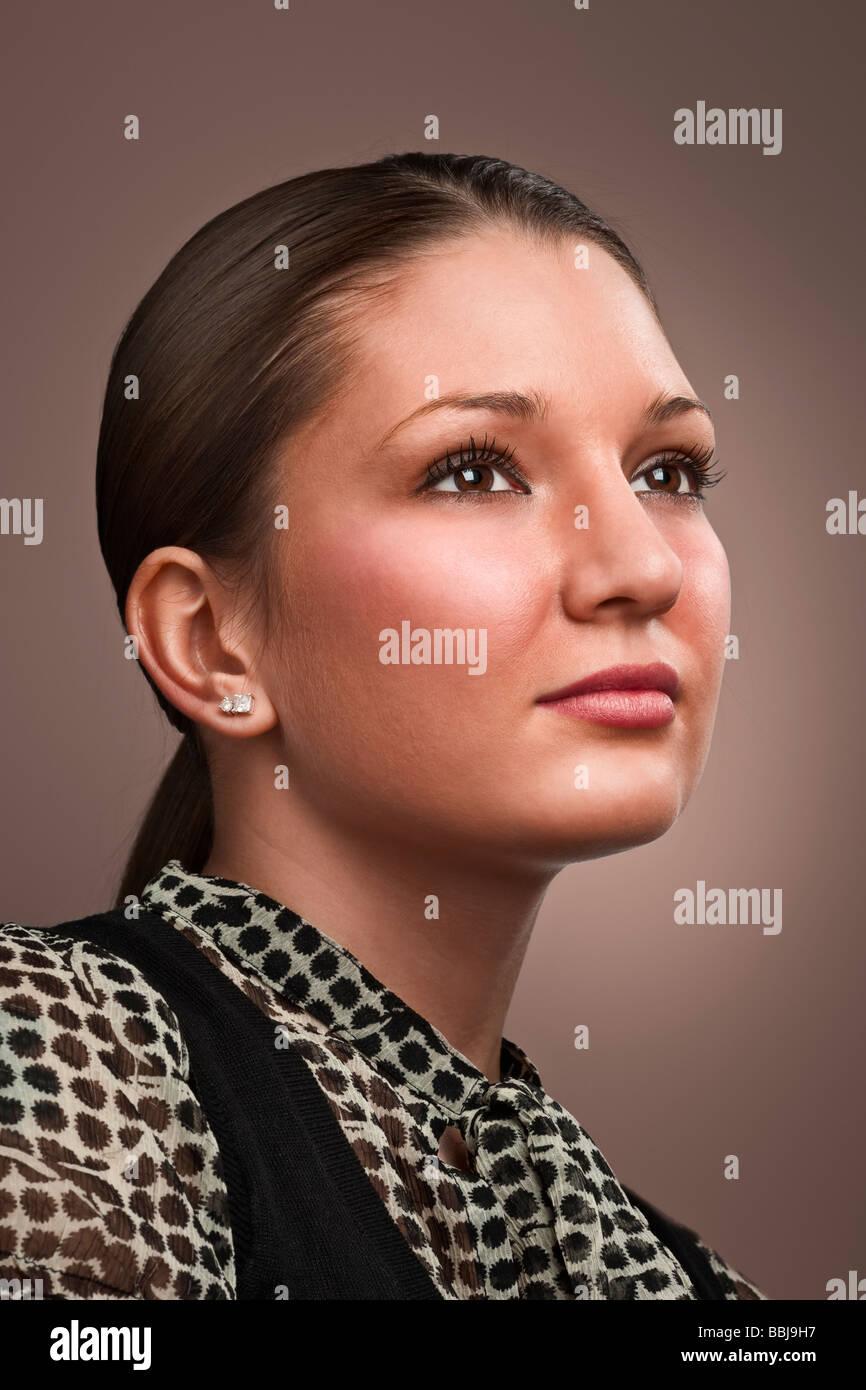 Portrait of a glamorous latino girl - Stock Image