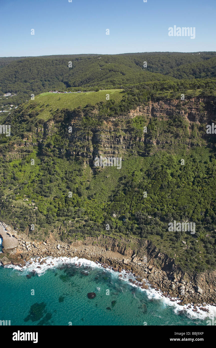 Bald Hill Illawarra Escarpment on Grand Pacific Drive between Wollongong and Sydney New South Wales Australia aerial - Stock Image