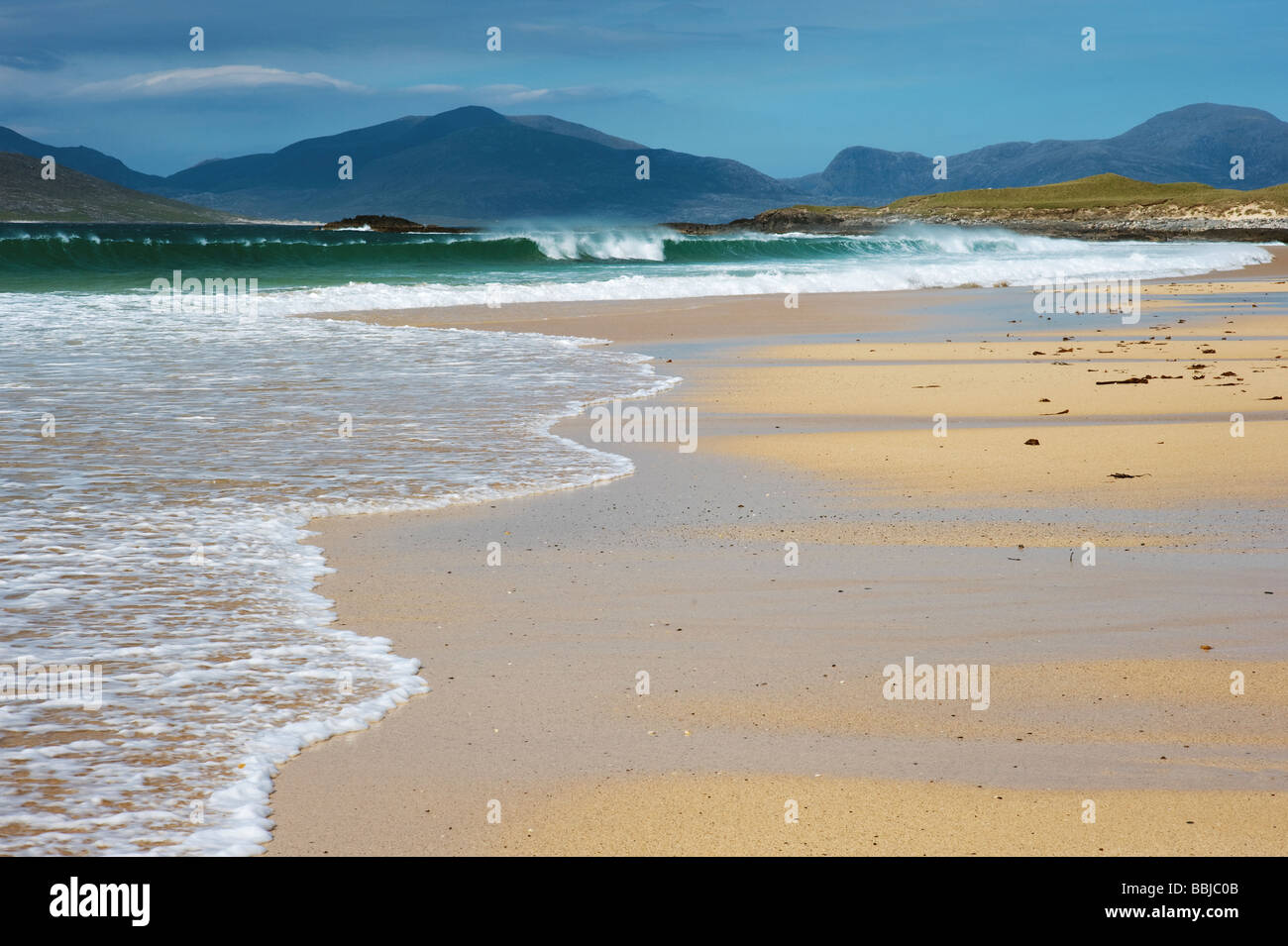 Traigh Lar  beach, South Harris, Outer Hebrides, Scotland - Stock Image