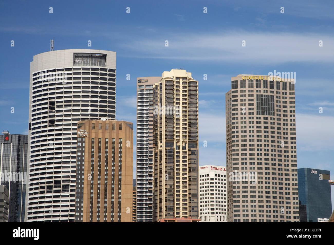 Skyscrapers CBD Sydney New South Wales Australia - Stock Image