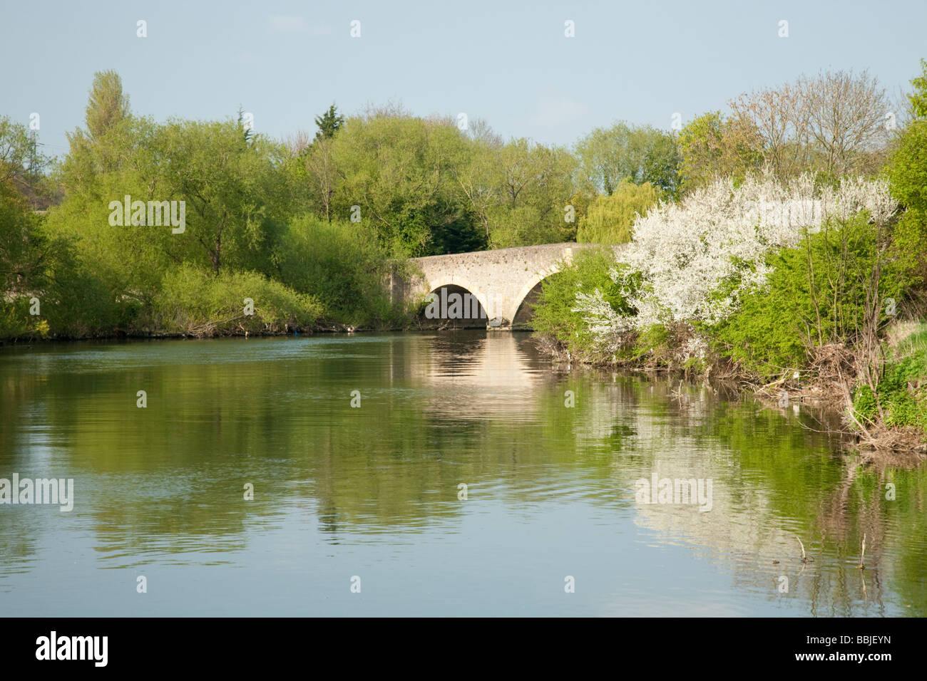 Sutton road bridge over the River Thames at Culham Oxfordshire Uk - Stock Image