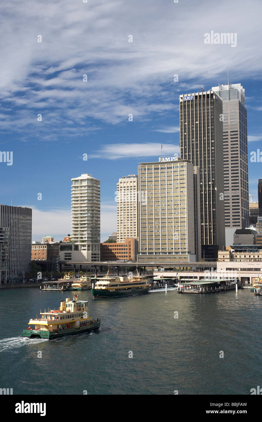 Passenger Ferries Circular Quay and CBD Sydney New South Wales Australia - Stock Image