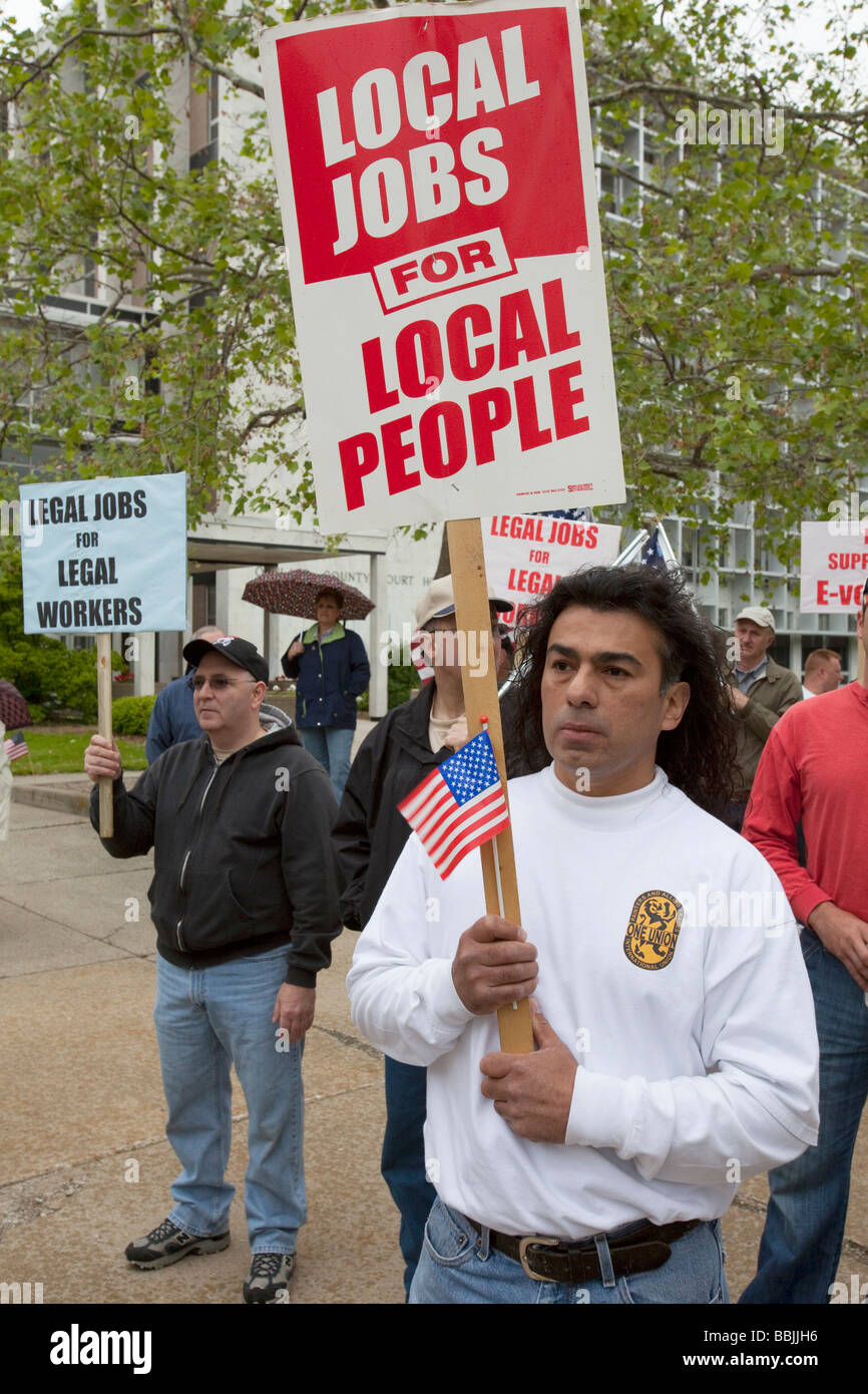 Rally Against Illegal Immigration - Stock Image