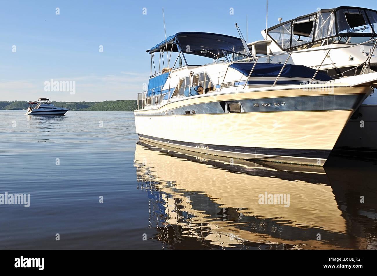Boats anchored. - Stock Image