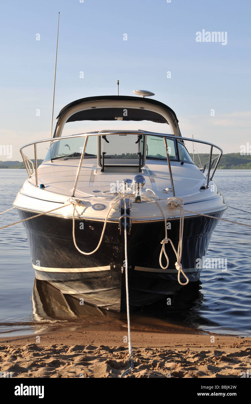 Anchored boat. - Stock Image