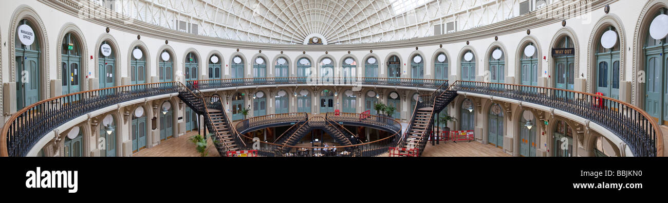 The Corn Exchange Victorian Quarter Leeds City Centre West Yorkshire Architect Cuthbert Broderick built 1861 to - Stock Image