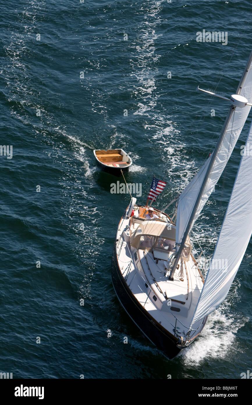 sailing, cruising, yacht racing - Stock Image