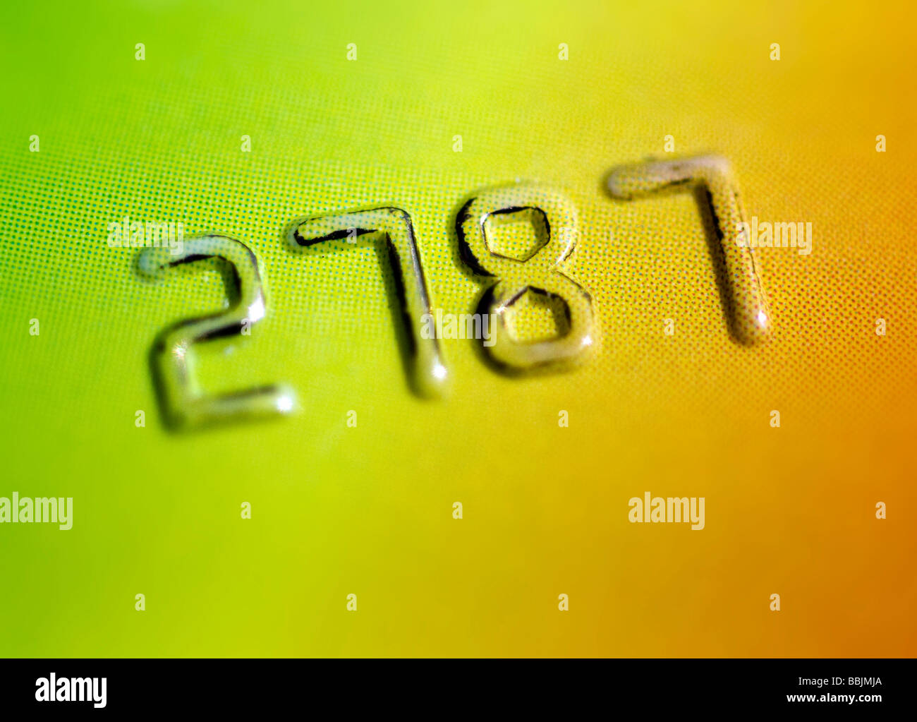 Credit card numbers - Stock Image