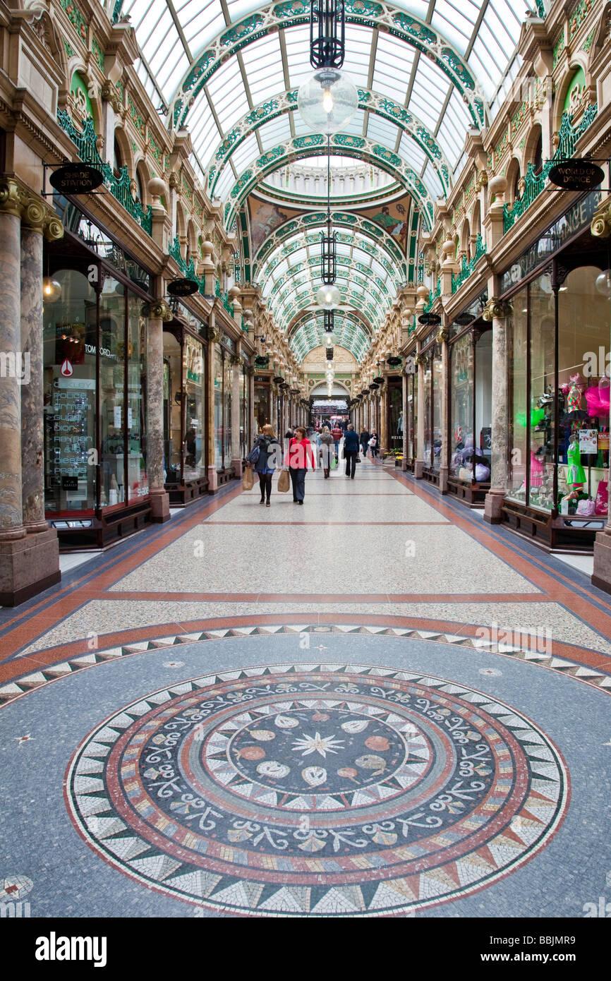 Victorian Quarter Leeds City Centre Yorkshire - Stock Image