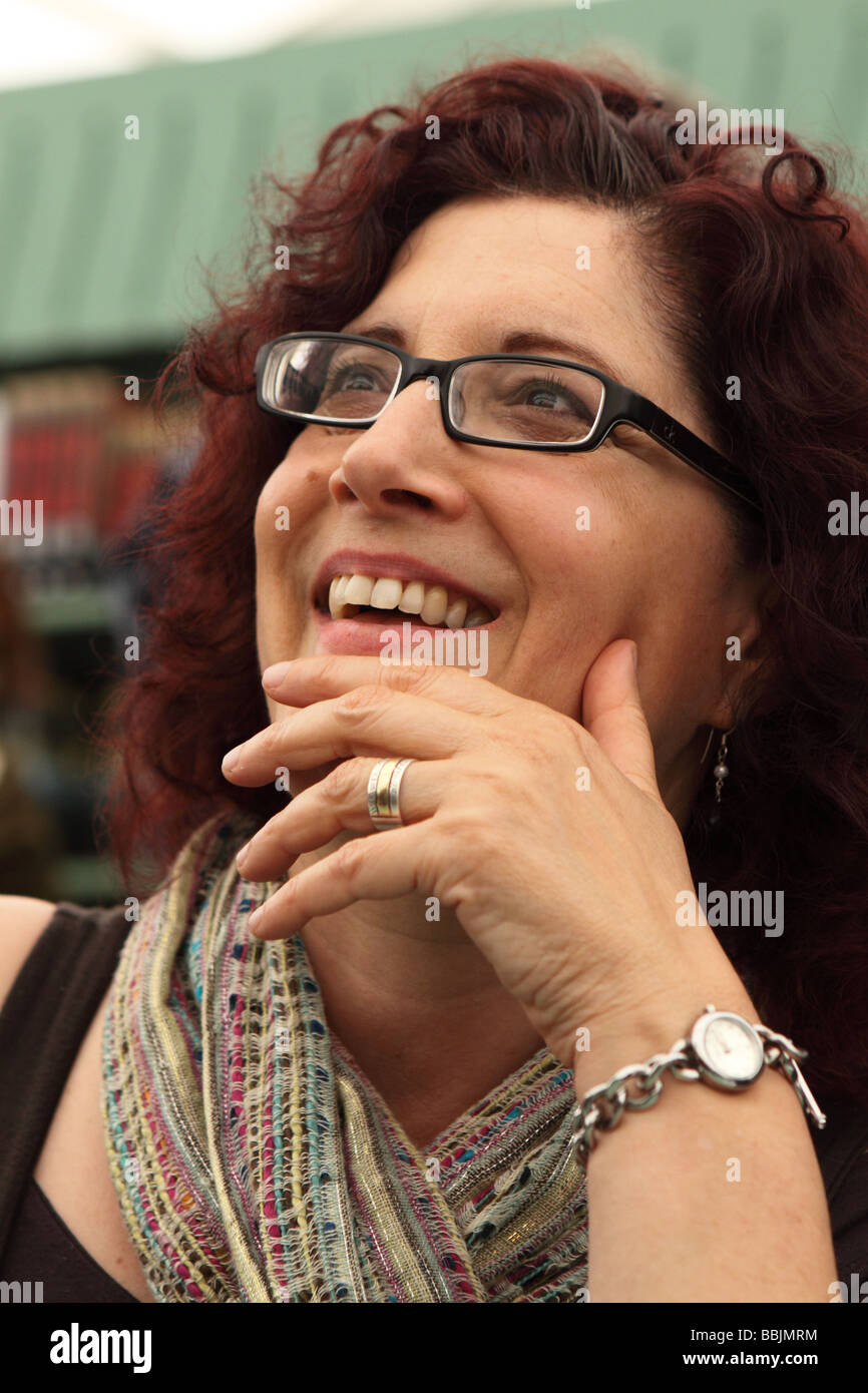 Professor Miri Rubin book author of 'Mother of God - A History of the Virgin Mary' at the Hay Festival May - Stock Image