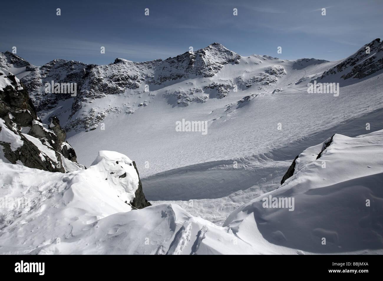 Blackcomb glacier Blackcomb mountain Whistler Stock Photo