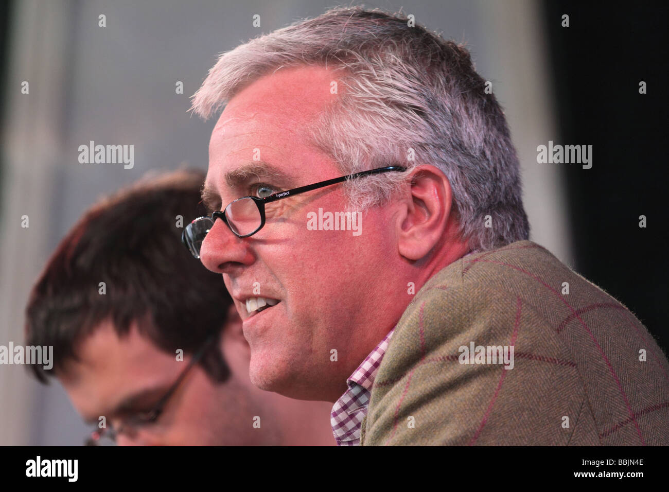 Paul Blezard writer presenter broadcaster and book reviewer at the Hay Festival May 2009 - Stock Image