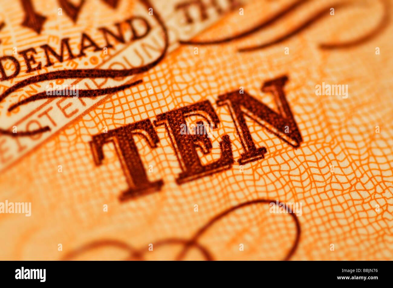 Ten pound note - Stock Image