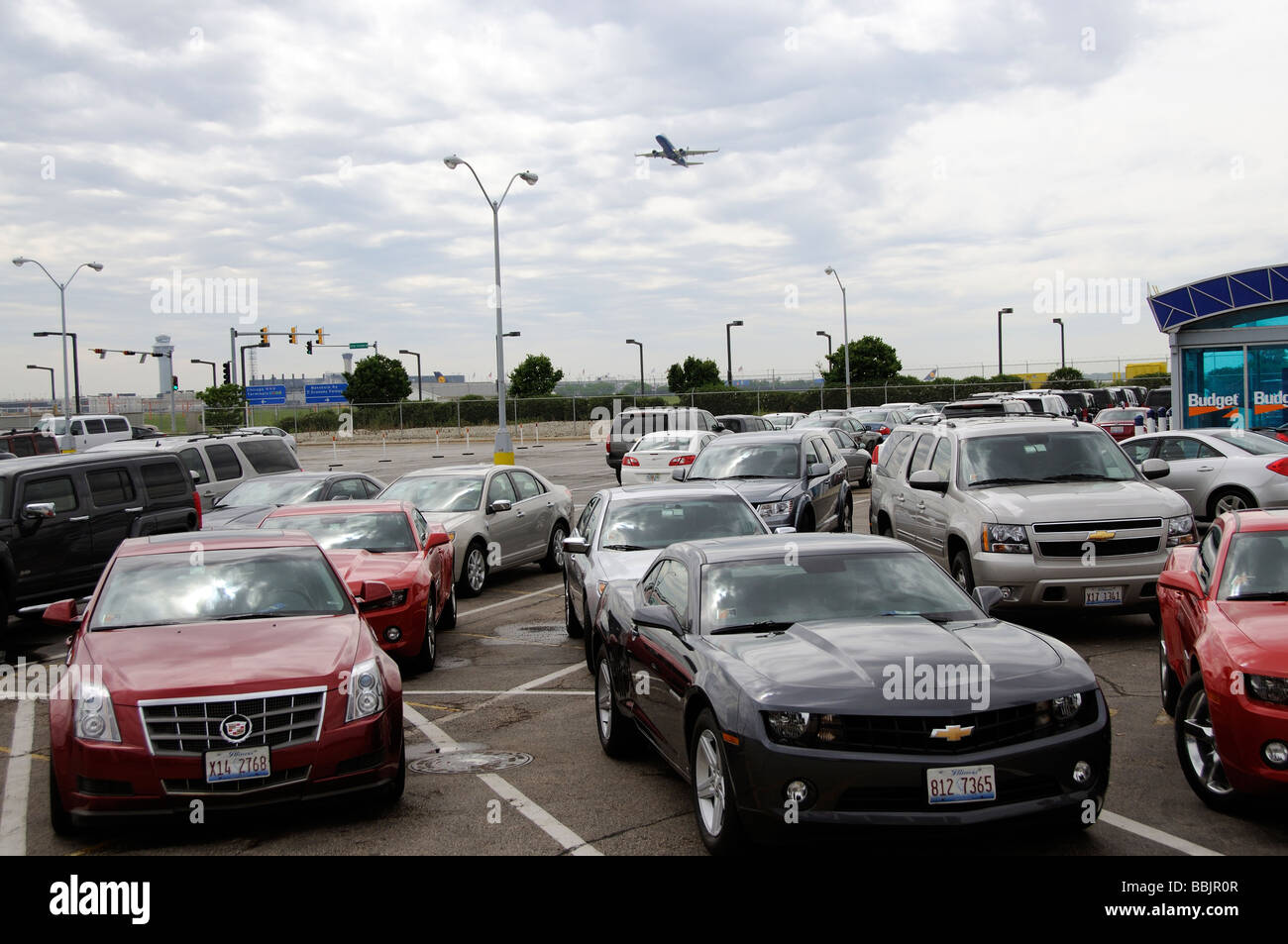 Rental Car Depot At Chicago O Hare International Airport Illinois