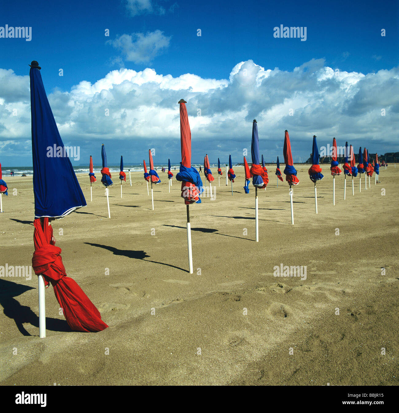 Deauville beach, Normandy coast, France. - Stock Image