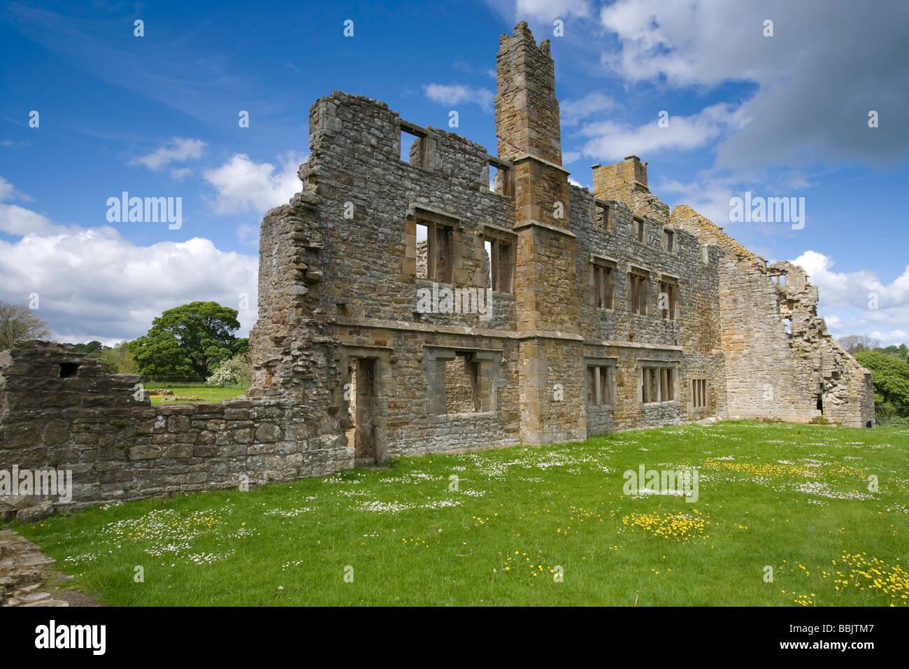 Egglestone Abbey near Barnard Castle County Durham - Stock Image