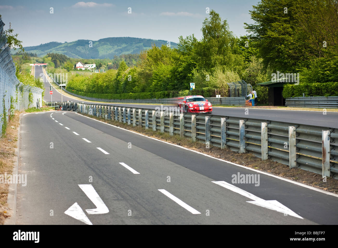 Motor Racing on the Nurburgring race track Germany Europe Stock Photo