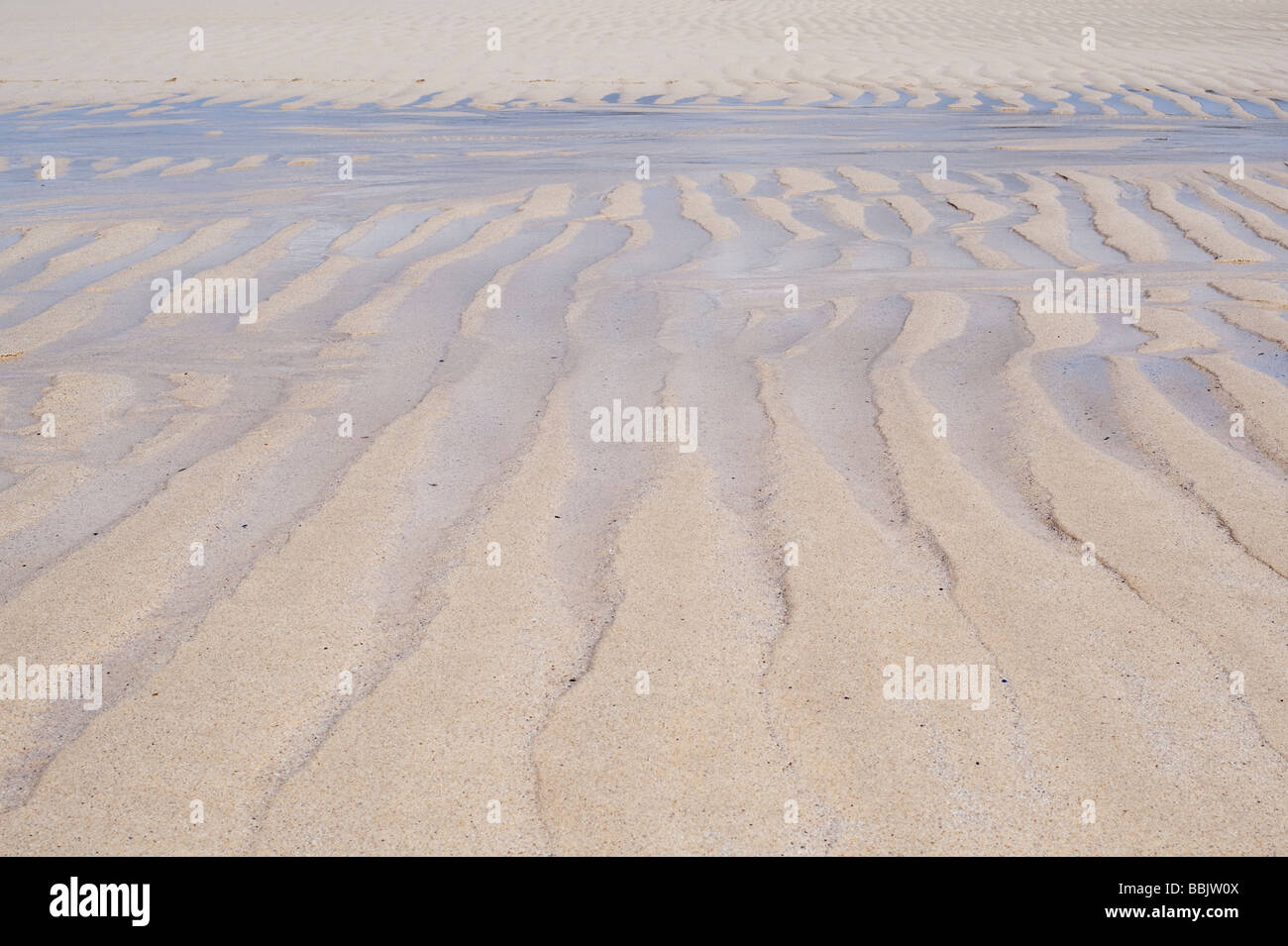 Sand waves patterns on Traigh Scarista beach, Isle of Harris, Outer Hebrides, Scotland - Stock Image