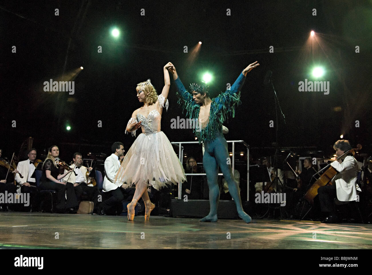 birmingham royal ballet dancer at artsfest 2008 - Stock Image