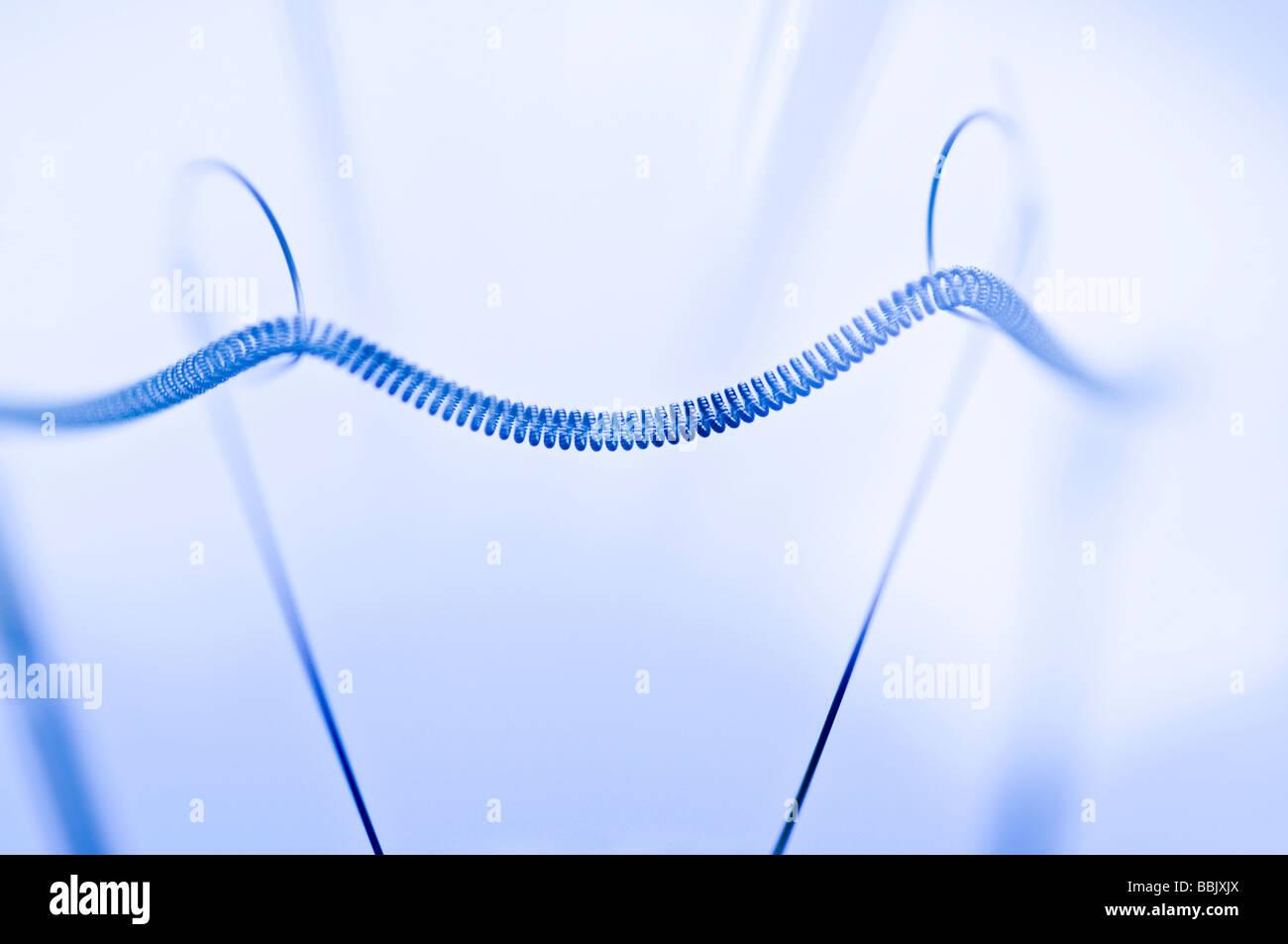 light bulb filament - Stock Image