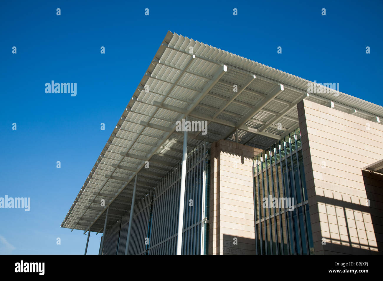 CHICAGO Illinois Detail of architecture and design of Modern Wing addition to Art Institute museum - Stock Image