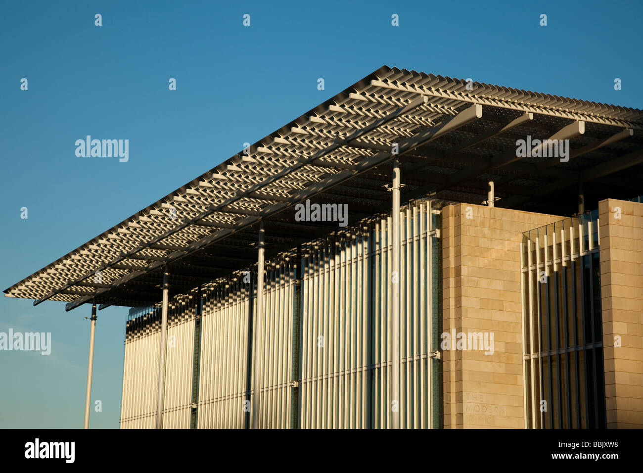 CHICAGO Illinois Detail of architecture of Modern Wing addition to Art Institute museum - Stock Image